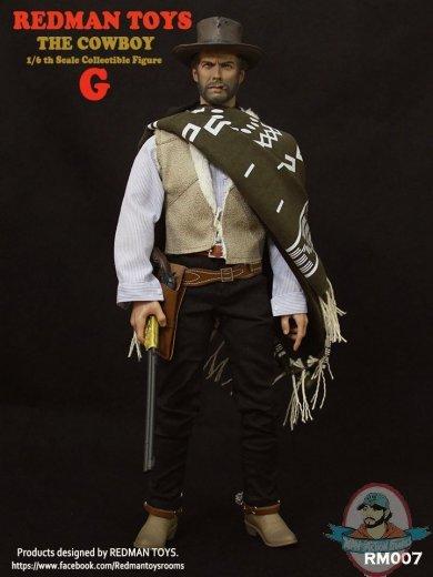 Blue /& White Shirt Good Cowboy V4 Redman Action Figures 1//6 Scale