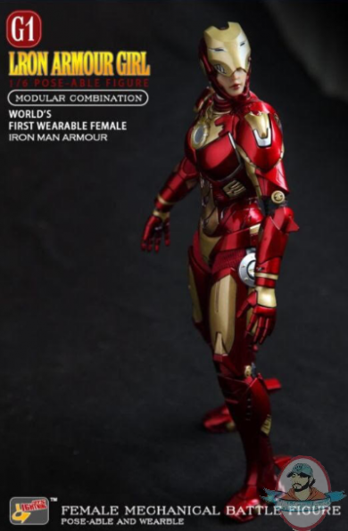 1 6 Scale Lron Armour Girl It 001 Action Figure Lightning