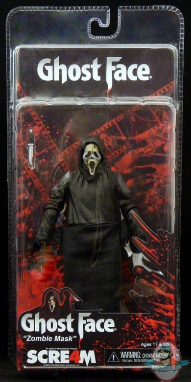Scream Ghostface Zombie Mask 7 Inch Action Figure By Neca