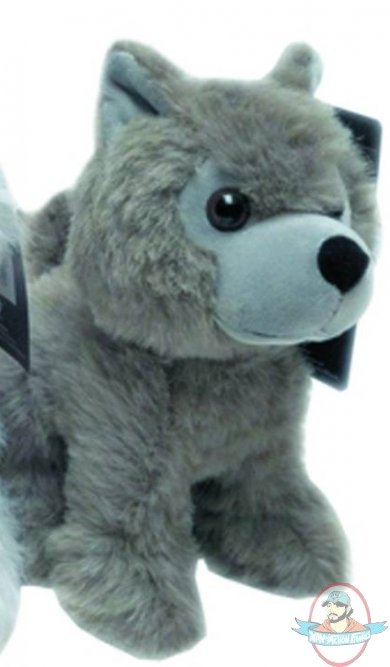 Game of thrones dire wolf cub plush grey wind man of action figures - Dire wolf bookends ...
