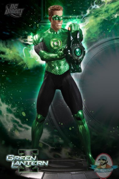 green lantern movie hal jordan ryan reynolds maquette statue dc direct