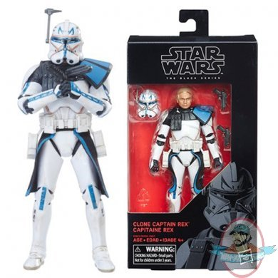 "star wars black series 6"" captain rex figure 59hasbro | man of action figures"