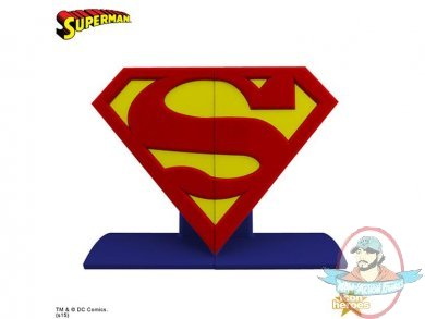 DC Comics Bookends Superman Logo By Icon Heroes