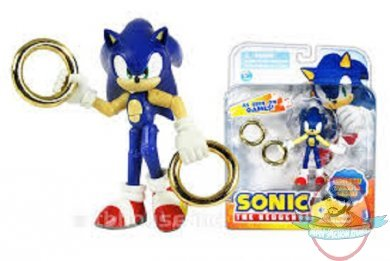 Sonic The Hedgehog 3 Inch Sonic With Two Rings By Jazwares