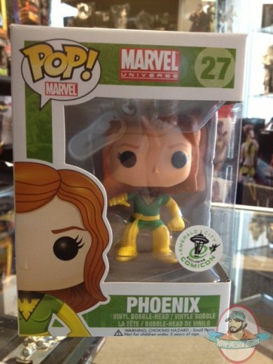 Pop Marvel Phoenix Emerald City Cc Exclusive Vinyl Figure