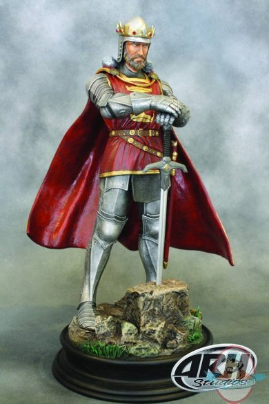 King Arthur 1 6 Scale Statue Silver Armor By Arh Studios