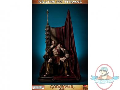 1 4 Scale God Of War Kratos On Throne Statue Gaming Heads