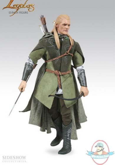 Lord Of The Rings Legolas Greenleaf Exclusive 12 Figure Sideshow Used