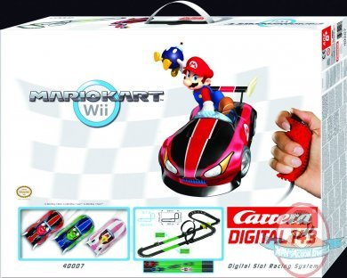 Mario kart wii 1 43 scale digital slot car system carrera for Coupe miroir mario kart wii