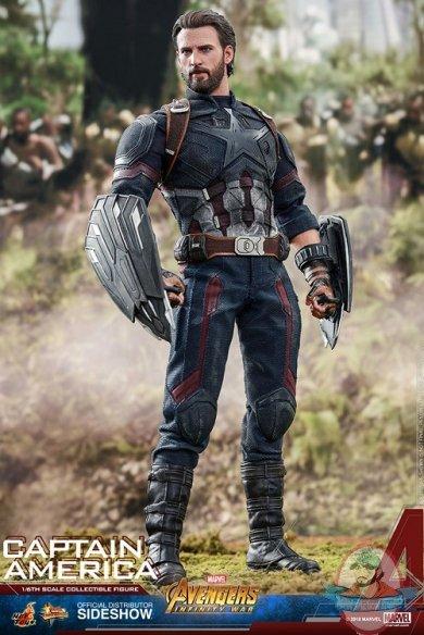 Hot Toys Avengers Infinity War Captain America Winter Soldier Bobble Head Figure