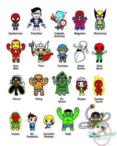 Marvel X Tokidoki Frenzies 30 Piece Case Man Of Action