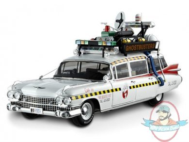 Ghostbusters 2 Ecto-1A Hot Wheels Elite 1:18 Scale Vehicle Mattel | Man of Action Figures