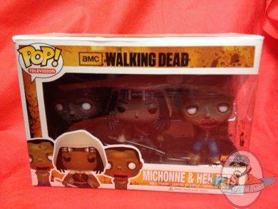 Pop Px Walking Dead Michonne Amp Pet Zombies 3 Pk Funko