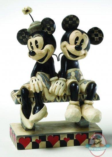 Disney Traditions B Amp W Mickey Minnie Duo Figurine By Enesco