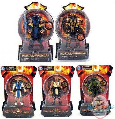 Mortal Kombat 9 4 Inch Set of 5 Action Figures | Man of Action Figures