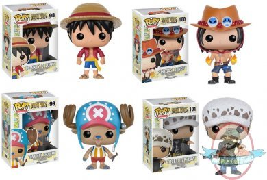 Pop Anime One Piece Set Of 4 Vinyl Figure By Funko Man