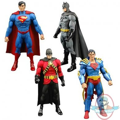 bb2d8d958daf Classic heroes and villains in DC Universe All Stars Wave 1! • Tons of  detail. Plenty of articulation! • Only the best characters of the DC  Universe!