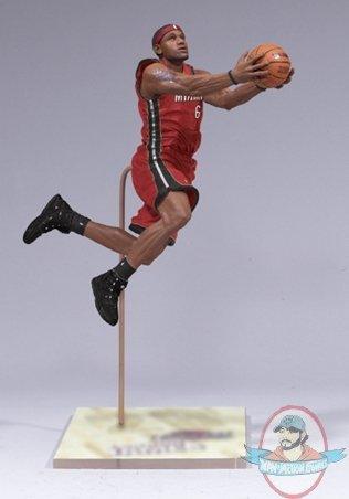 Lebron James Miami Heat Nba Mcfarlane 19 Man Of Action