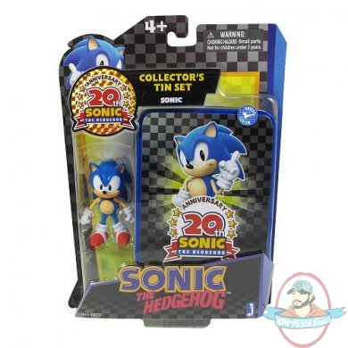Classic Sonic 20th Anniversary Collector S Tin Figure By Jazwares Man Of Action Figures