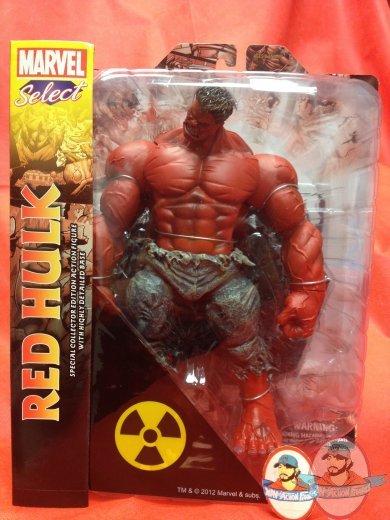 DIAMOND SELECT TOYS  RED HULK   Marvel Select  Action Figure 8/' Avengers