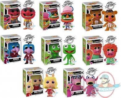 Pop Muppets Set Of 8 Vinyl Figures By Funko Man Of