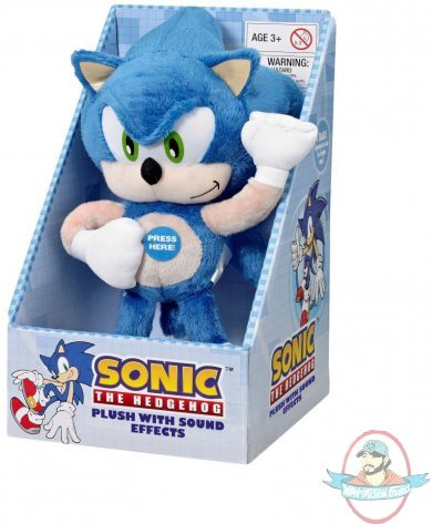 Sonic The Hedgehog Medium Sonic Plush W Sound Effects Underground Man Of Action Figures