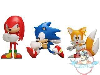 Classic Sonic The Hedgehog 5 Vinyl Series 01 Set Of 3 Man Of Action Figures