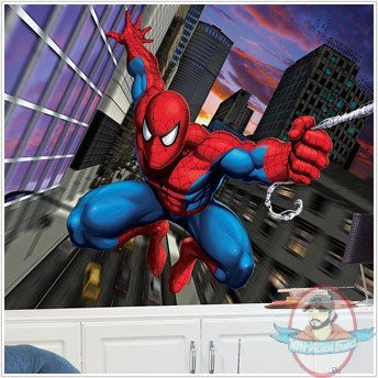 Spider man xl wall mural 6 39 x 10 39 roommates marvel man - Poster mural spiderman ...