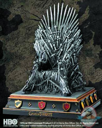 Game of thrones iron throne bookend by the noble collection man of action figures - Dire wolf bookends ...