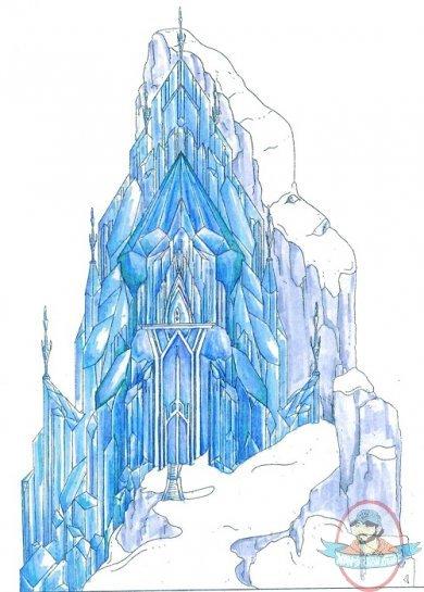 Disney Frozen Village Elsa Ice Palace Figure by Enesco ...