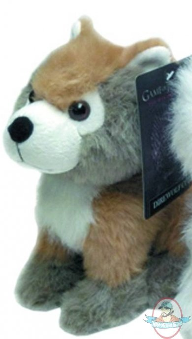 Game of thrones dire wolf cub plush summer man of action figures - Dire wolf bookends ...