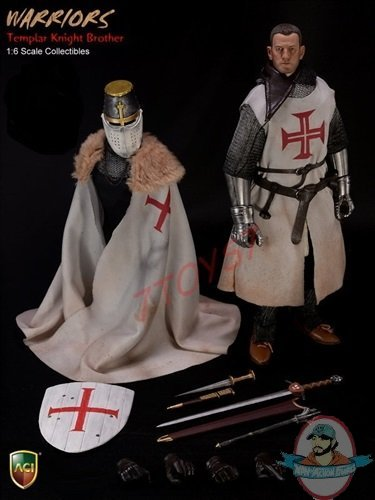 1//6 Scale Toy Knight Templar Crusader Gloved Hands w//Metal Gauntlets