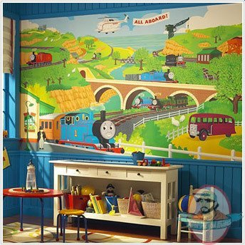 thomas friends xl wall mural 6 39 x 10 5 39 roommates man. Black Bedroom Furniture Sets. Home Design Ideas