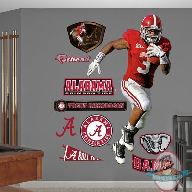 Fathead trent richardson alabama crimson tide man of for Alabama football wall mural