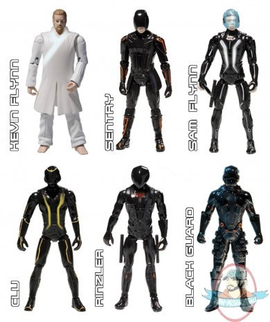 Tron Legacy Core Action Figures Set Of 6 By Spinmaster