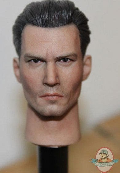 12 Inch 1 6 Scale Head Sculpt Johnny Depp Hp 0023 By