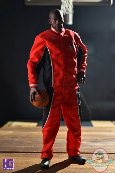 16 scale michael jordan warm up track suit red by