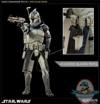 16 Scale Star Wars Clone Commander Wolffe By Sideshow Used Jc Man