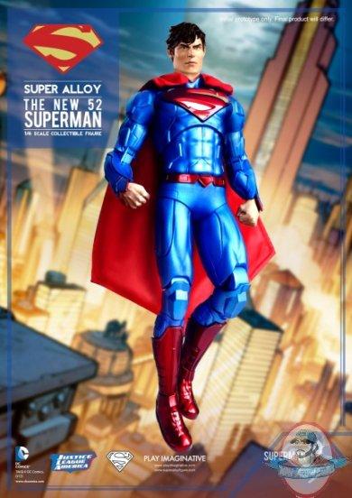 super alloy 16 scale justice league superman 12 inch
