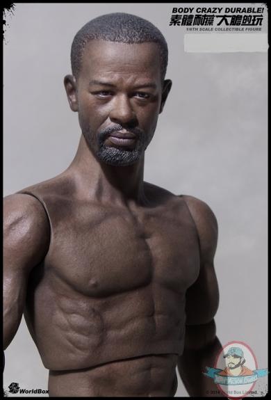 1 6 Scale Durable African Body 004 Walking Dead Morgan