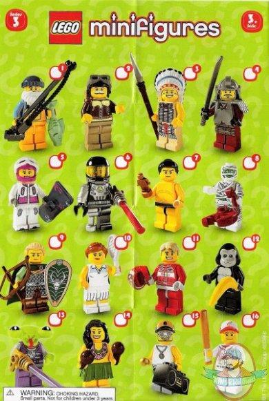 Lego Minifigures Series 3 Display Box Of 60 Man Of