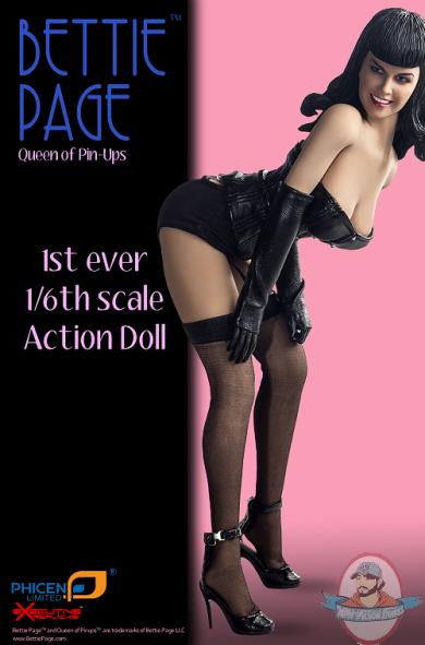 Bettie Page 1 6th Scale Action Doll By Phicen Man Of