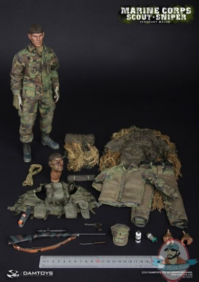 1 6 Scale Marine Corps Scout Sniper Sergeant Major Dam