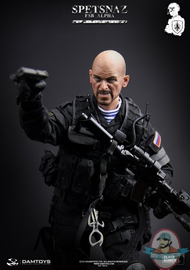 Scale spetsnaz fsb alpha group action figure by dam toys man of