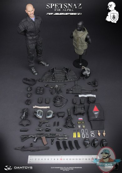 1 6 Scale Spetsnaz Fsb Alpha Group Action Figure By Dam
