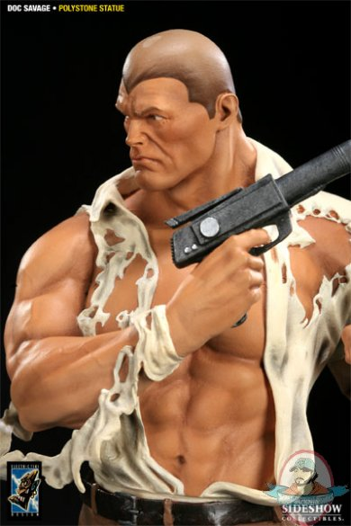 classic heroes doc savage 12 u0026quot  inch polystone statue by electric tiki