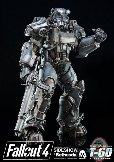 1 6 Sixth Scale Fallout 4 T 60 Power Armor Figure