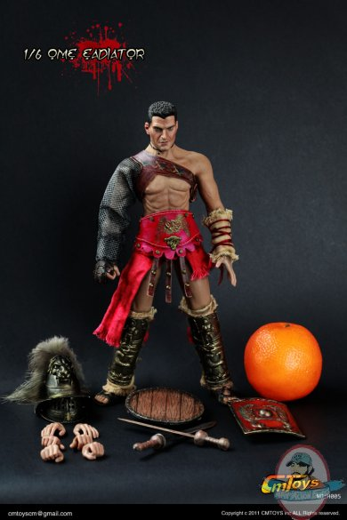 1 6 Roman Gladiator Action Figure H005 By Cm Toys Man Of