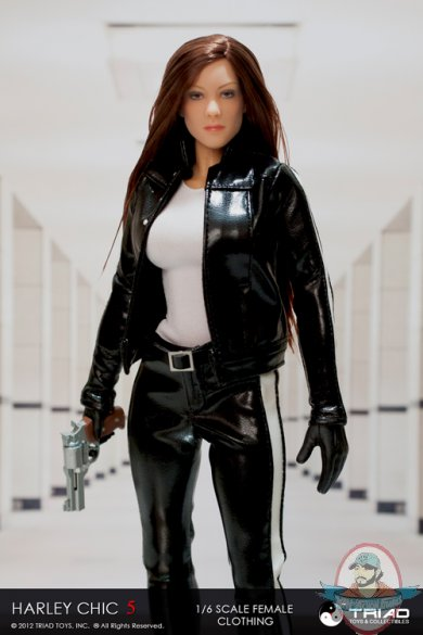 1 6 Scale Female Clothing Harley Chic 5 0 Black Outfit Set