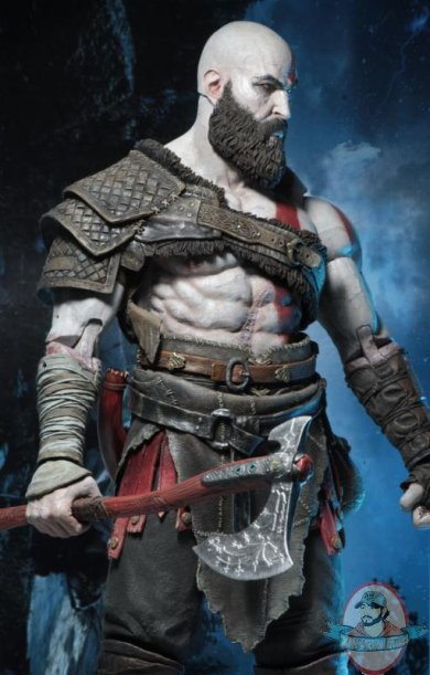 1 4 God Of War 2018 Kratos Action Figure By Neca Man Of